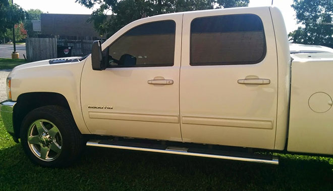 Chevy 2500 HD 20% Match Tinting